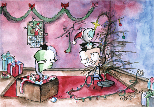 Zim's Christmas by Nidarci