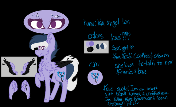Oc Ref Sheet by bellawindle1