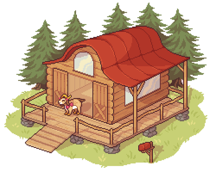 Oatmeal's Cabin by lover-bot
