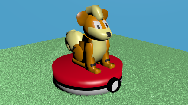 Growlithe 3D Model by Charpuppy