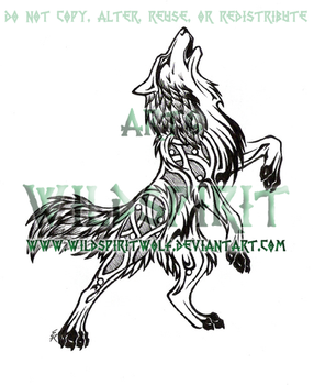 Norse Wolf Tattoo by WildSpiritWolf