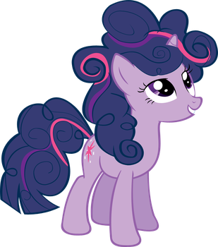 Twilight looks good with a curly mane by Scotch208