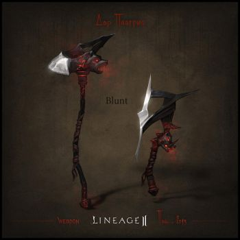 Weapon set concept Lineage II. Blunt by llaiii