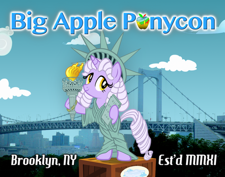 Big Apple Ponycon 'Liberty' Poster by purpletinker