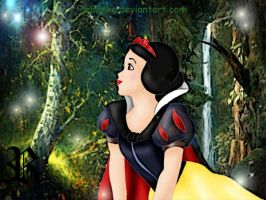 Snow White in the magic forest by rebenke