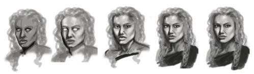 The Process of Angelina Jolie by Lunatiger