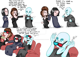 Voldy goes to the Cinema by aruanahansel