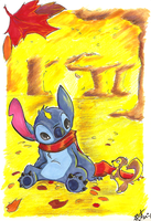 Stitch in Fall by DonoVanDine