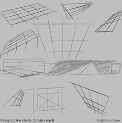 Perspective study by HighNoonDraw
