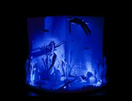 The Little Mermaid Book Sculpture with lighting by KarineDiot