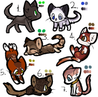 Group cats adoptables 2 3/7 OPEN by Winterfrost-Adopts