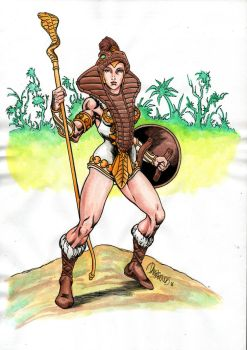 Teela the warrior goddess by danbrenus