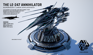 LE-247 Annihilator Superheavy Laser Emplacement by Duskie-06