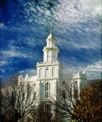 St. George LDS Temple, Texture 12/2012 by houstonryan