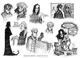 Harry Potter - pencil sketches by ElisEiZ