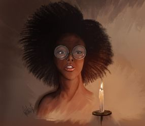 Message in the flame of a candle. by andre-ma