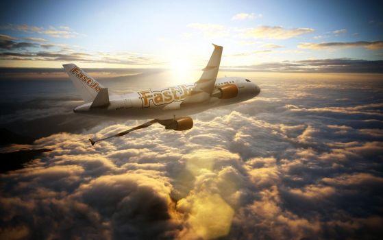 Fastjet Airlines Soaring Above The Clouds by ROGUE-RATTLESNAKE