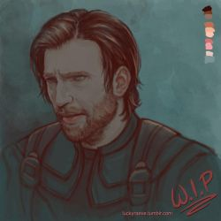 Beardy!Steve sketch 01 by luckyraeve