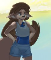 Day 2 - Morning on the Beach by MOOMANiBE