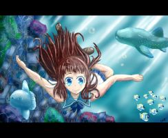 Swimming With the Fishes by fingerpaint888