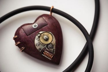 Memory Heart USB Necklace by back2root