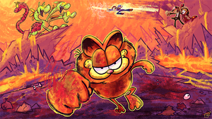 Garfield: FOREVER FIST by jazaaboo