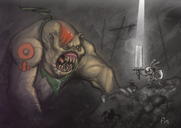 troll fight by TOTOPO
