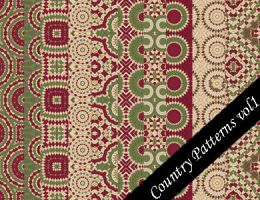 Country Seamless Pattern Set 1 by emmaalvarez