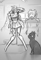 Robot Sailor Moon by Psuede
