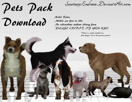 {MMD DOWNLOAD} Pets Pack by MariCorsair