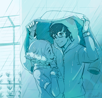 Rainy Rooftop by Lubrian