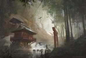 Remote Temple by ChrisOstrowski