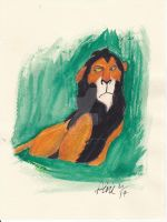 SCAR FROM THE LION KING SPEED PAINTING + VID by IDROIDMONKEY