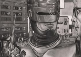 Robocop Graphite Drawing by Pen-Tacular-Artist