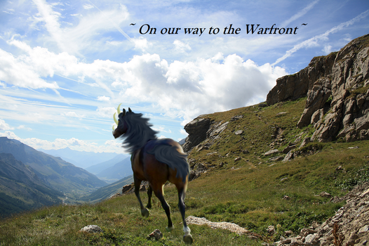 On Our way to the Warfront by TheMagicalGoldenRose