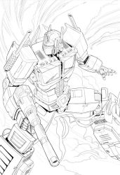 Optimus Prime (High Res) by SquirrelShaver