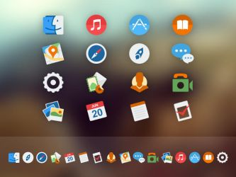 OSX Yosemite Replacement Icons by AlienValley