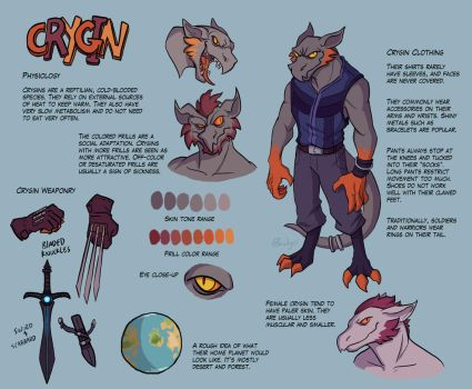 Crygin Species Sheet by QuietBadger