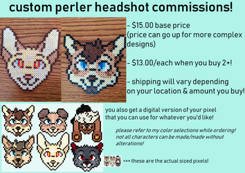 bead headshot comms: OPEN by norsetruth