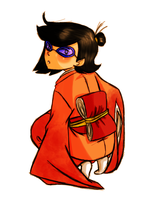 Phoebe in a kimono by DontbeModest