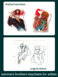 Summers Brothers Keychains by princefala