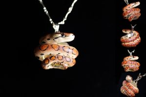 Rainbow Boa Necklace by IllusionTree
