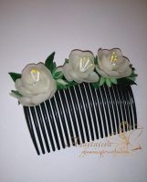Flower Comb by AnabellaAt