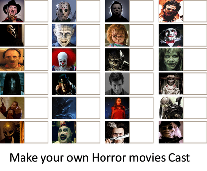 Make your Own horror movie Cast Meme (reupload) by xxphilipshow547xx