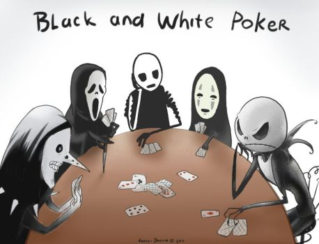 Black and white poker by Fenix-Dream