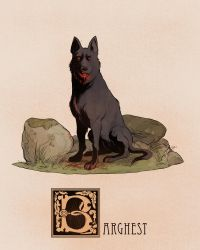 B is for Barghest by Deimos-Remus