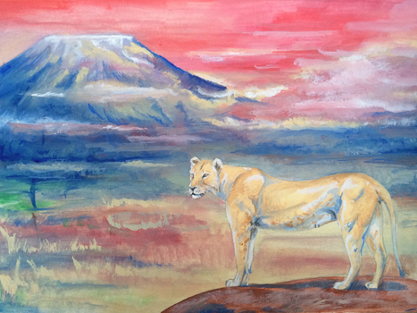 Lioness's dream by ClaireJouy