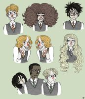 some HP characters by psychomindset