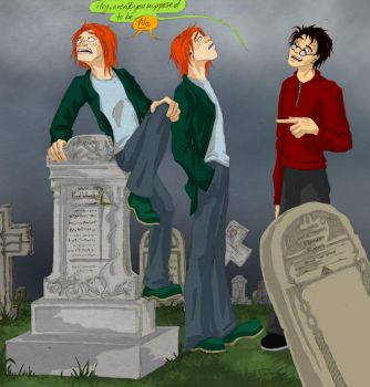 Fred + George- Grave buisness by olafpriol