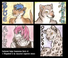 CF Commissioned Badges Batch 1 by neon-possum